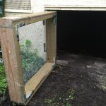 New custom crawl space door.